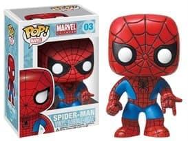 Фигурка Спайдер-мен (Spiderman) винловая с качающейся головой