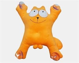 Кот Саймон хулиган  плюшевая игрушка  оранжевая