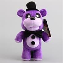 Плюшевая игрушка Пурпурный Фреди в шляпе 30 см из игры 5 ночей с Фредди