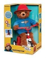Плюшевая игрушка Паддингтон на велосипеде из фильма Приключения Паддингтона