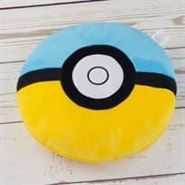 Мягкая игрушка Покебол Сине-желтый (Pokeball 32 Х 32 см)