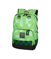 Рюкзак Minecraft (Майнкрафт) зеленого цвета школьный на сайте Super01.ru