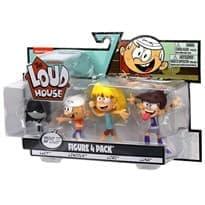 Набор из 4 фигурок Линкольн, Лори, Лиса и Луна (The Loud House Figure) купить