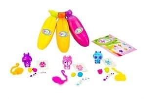 Набор Банановые игрушки желтая, розовая и оранжевая (Bananas Collectible toys) купить в Москве