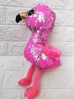 Мягкая игрушка Фламинго с пайетками купить