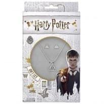 Подарочный набор ожерелье и запонки (Дары Смерти Гарри Поттер) из серебра купить