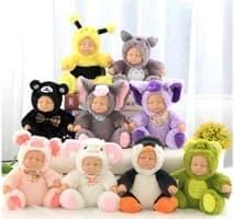 Куклы в костюмах животных