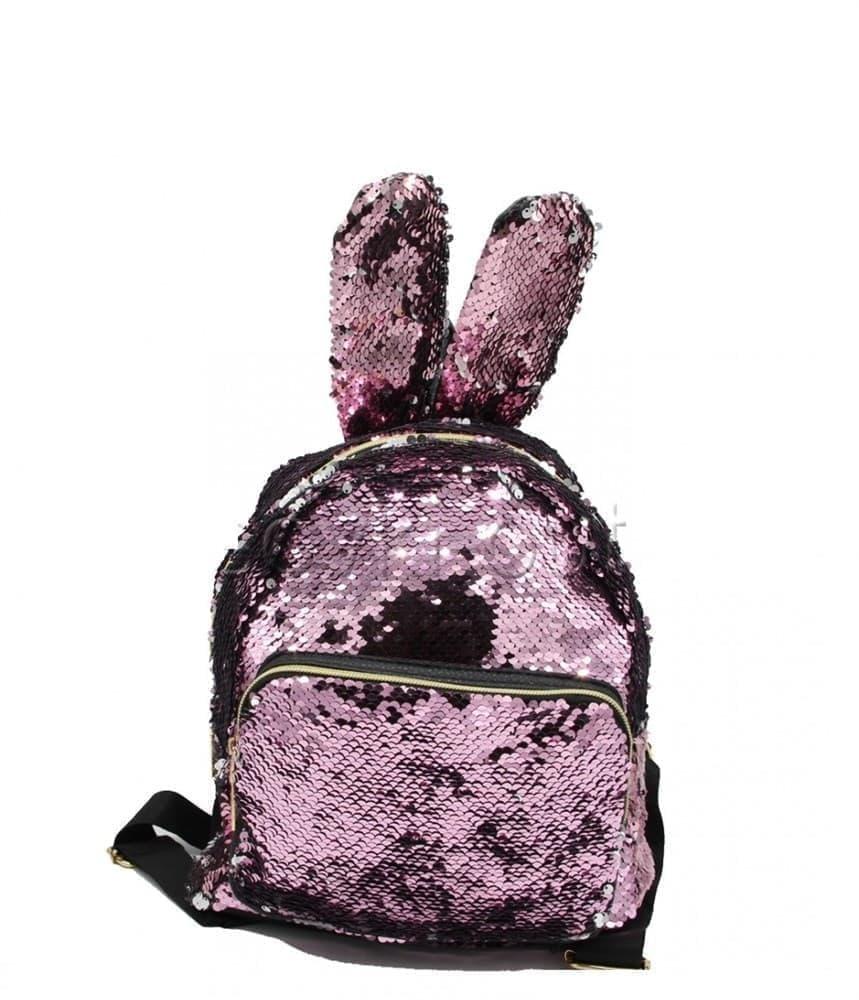 ace72621fe70 Рюкзак с пайетками (розовый - белый) - купить недорого в интернет ...