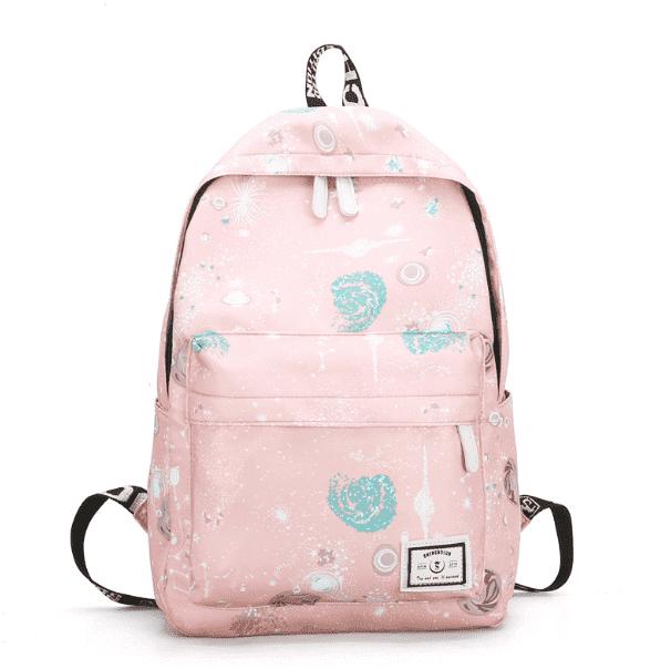 b2afa3cd5239 Рюкзак Космический принт (пастельный розовый)