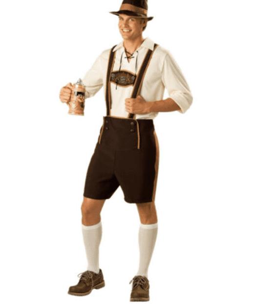 баварский костюм фото цветными карандашами раскрасьте