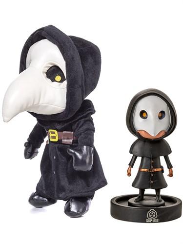 Набор мягкая игрушка и фигурка Чумной Доктор Plague Doctor из SCP-049 заказа