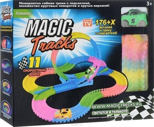 Конструктор Magic Tracks вираж 176 деталей купить в Москве