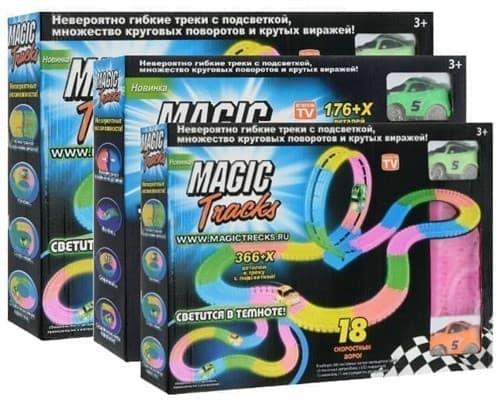 Конструктор Magic Tracks 778 деталей. Игрушка, светящаяся дорога, гоночная трасса. Купить в Москве