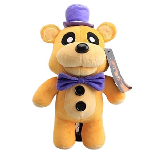 Мягкая игрушка Золотой Фредди в шляпе из игры 5 ночей с Фредди 30 см
