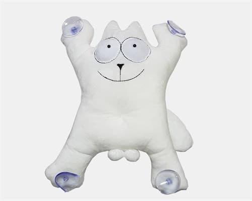 Кот Саймон хулиган  плюшевая игрушка  белая - фото 12627