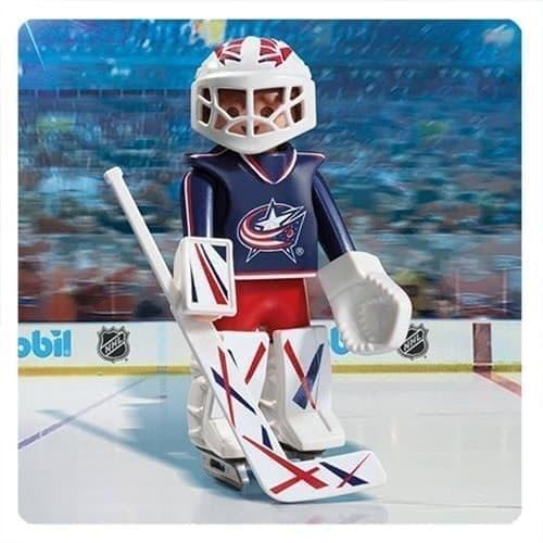 Двигающаяся фигурка NHL Вратарь Коламбус Блю Джекетс - фото 13405