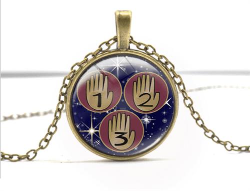 Брелок Ожерелье с драгоценными камнями с мультфильма Гравити Фолз - фото 13634