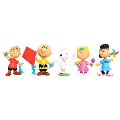 Игровой набор из 5 персонажей мультфильма Снупи и мелочь пузатая - фото 13737