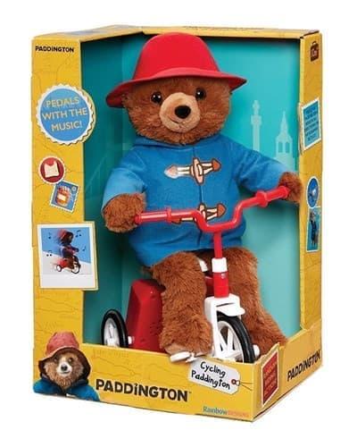 Плюшевая игрушка Паддингтон на велосипеде из фильма Приключения Паддингтона - фото 13774