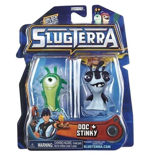 Набор с мини-фигурок Дос и Стинки с мультфильма Слагтерра (Slugterra Mini Figure 2-Pack Doc & Stinky ) с кодом для игры купить