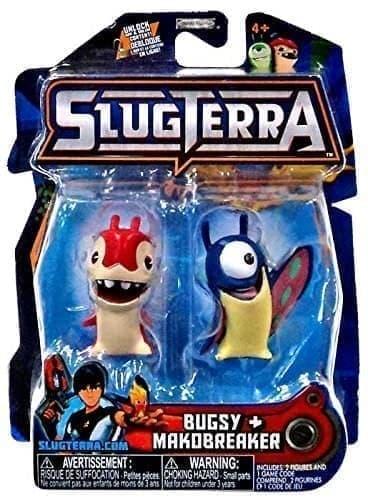 Набор с мини-фигурок Багси и Макобрейкер с мультфильма Слагтерра (Slugterra Mini Figure 2-Pack Burpy and Thugglet) с кодом для игры купить