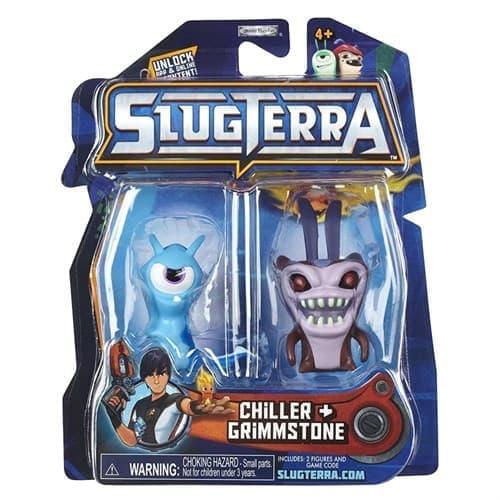 Набор с мини-фигурок Чилер и Глимстоун с мультфильма Слагтерра (Slugterra Mini Figure 2-Pack Chiller & Grimmstone) с кодом для игры купить
