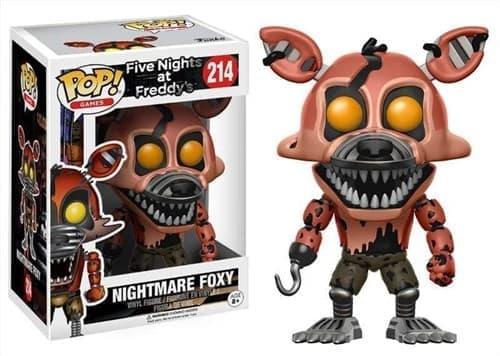 Фигурка Кошмарный Фокси (Nightmare Foxy) из игры Five Nights at Freddy Funko pop #214 - фото 16465