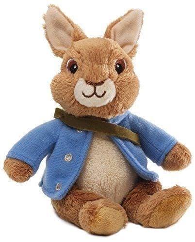 Мягкая игрушка Кролик Питер Коричневого цвета с мультфильма 18 см - фото 16505