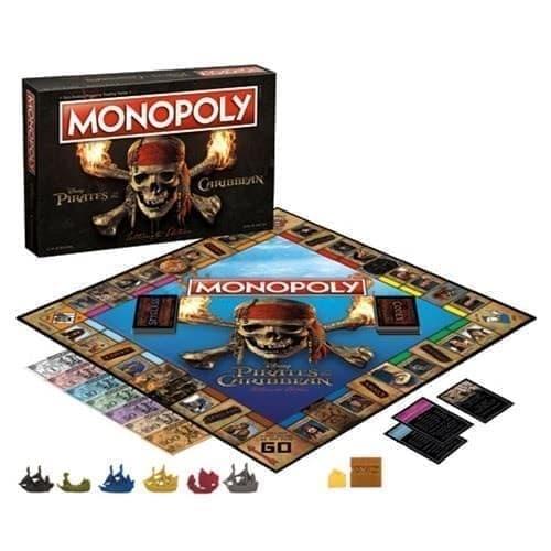 Настольная игра Монополия Пираты Карибского моря (Pirates of the Caribbean Ultimate Edition Monopoly Game) - фото 16964