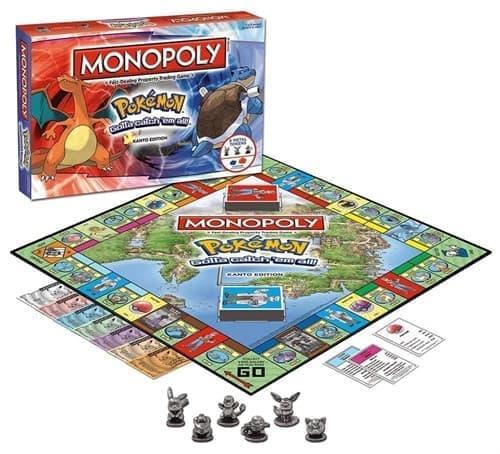 Настольная игра монополия Покемон (USAopoly MONOPOLY: Pokemon Kanto Edition) купить в Москве