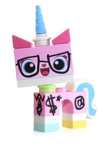 Фигурка Юникитти в очках MiniFigure - Minifigure Biznis Kitty [Wearing Glasses & Suit] купить