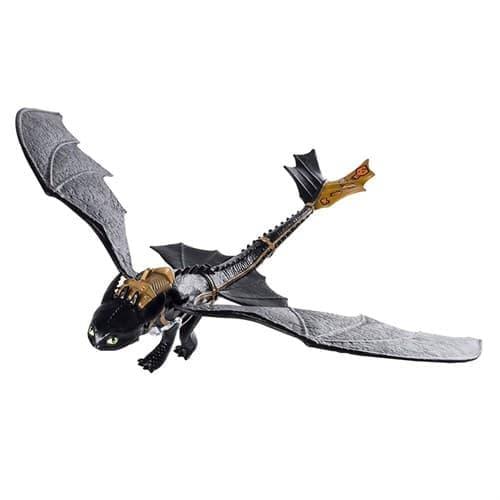 Игрушка интерактивный подвижный Беззубик (Action Dragon Figure - Wing Flapping Toothless) 27 см - фото 17229