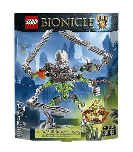 Конструктор Лего Бионикл Нарезатель Черепов (Lego bionicle: Skull Slicer) 71 деталь - фото 17531