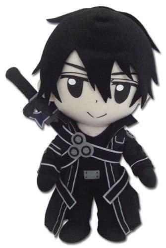 Плюшевый Кирито с аниме Мастера меча онлайн (Sword Art Online Kirito Plush Doll) 30 см - фото 17957