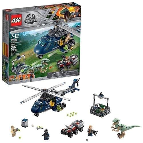 Лего Дежурный вертолет (Jurassic World Blue's Helicopter Pursuit 75928 ) 397 деталей купить