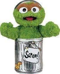 "Товар ""Плюшевая игрушка Оскар (Oscar the Grouch) с мультфильма Улица Сезам"""