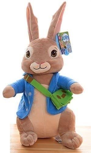 Мягкая игрушка Кролик Питер с зеленой сумкой купить в Москве