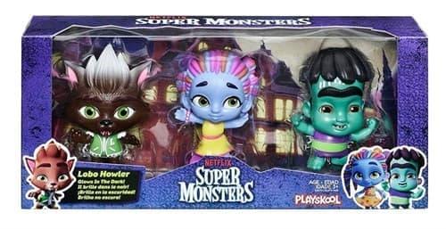 Набор фигурок Лобо, Френки, Зои из Супер Монстры (Super Monsters) купить