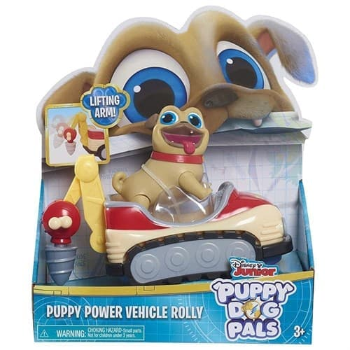 Подвижный Мопс Ролли на автомобиль (Puppy Power Vehicles) купить