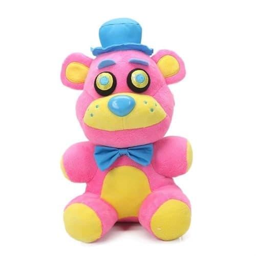 Мягкая игрушка ФНАФ Фредди Неоновый Розовый (Five Nights Freddy Neon Plush) 20 см - фото 34216