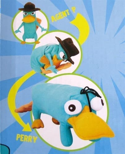 Плюшевая игрушка 2 в 1 Утконос Перри и Агент Пи купить