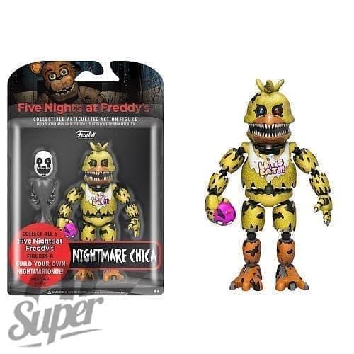 Подвижная игрушка Кошмарная Чика ФНАФ (Nightmare Chica Action Figure) - фото 6996
