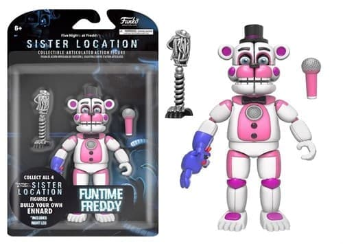 Подвижная игрушка Фантайм Фредди ФНАФ (Funtime Freddy Action Figure) - фото 7601