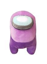 Фиолетовая мягкая игрушка Амонг Ас (Among Us) 20 см