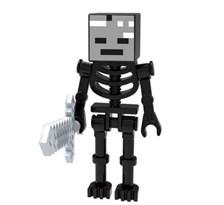 Фигурка совместима с лего Скелет-иссушитель из игры Майнкрафт (Wither Skeleton Minecraft) купить