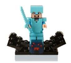 Фигурка совместима с лего Стив и Паук из игры Майнкрафт (Minecraft) купить