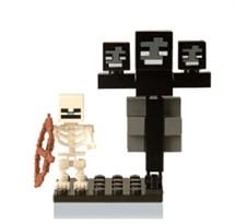 Фигурка совместима с лего Скелет и Иссушитель Майнкрафт (Minecraft) купить