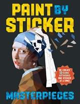 """Книга """"Шедевры"""" стикер раскраска антистресс"""