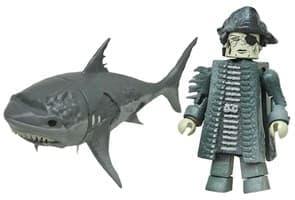 Фигурка Лесаро и Призрачная Акула (5 см) Пираты Карибского моря
