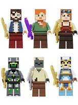 Набор из 6 фигурок совместимых с Лего персонажи игры Майнкрафт купить